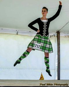Kilt with black jacket #mackellar #green #tartam