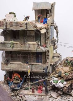 FNF tank breaches into Mosta, year 11 PM Warhammer Terrain, Military Modelling, Iraq War, Military Diorama, Usmc, Plastic Models, Scale Models, Scenery, Photo And Video