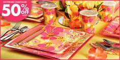 Tropical Heat Party Supplies - Tropical Decorations & Themes- Party City