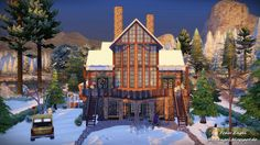 Sims 4 CC's - The Best: Christmas Cottage by Frau Engel