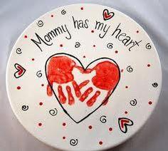 valentine's day handprint crafts | Valentine's Day Handprint Plate