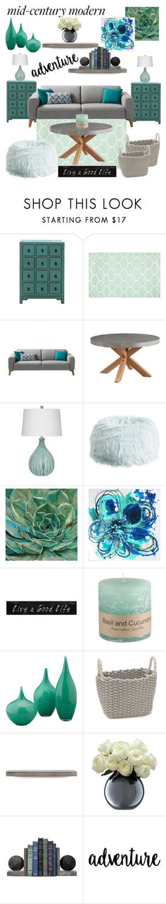 """Mild Century Modern"" by pink1princess ❤ liked on Polyvore featuring interior, interiors, interior design, home, home decor, interior decorating, PBteen, 3R Studios, Jamie Young and Lyon Béton"