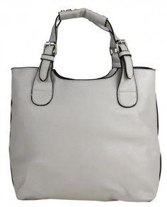 Módní shopper kabelka do ruky 3036 světle šedá - Kliknutím zobrazíte detail obrázku.