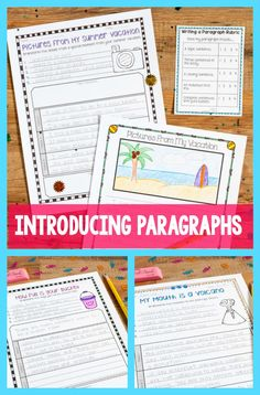 Combine back to school lessons with teaching students how to introduce paragraphs!  Read on for her awesome suggestions and books she references!