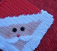Santa Potholder Crochet PATTERN INSTANT by WhiskersAndWool