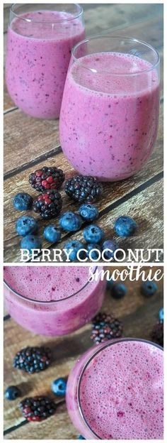 Blackberry and Blueberry Coconut Smoothie - Start the day off right or have a delicious afternoon pick me up with this easy and healthy smoothie recipe!   The Love Nerds #SamsClubMag @Samsclub #Ad