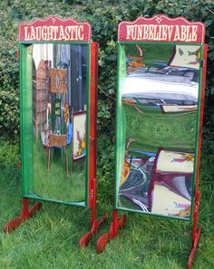Let your guests see themselves curvy or skinny! Funfair Distorting Mirrors; just watch the laugher start :)