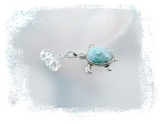 Dominican Blue Larimar Charms For Bracelets - TheChocolateOpal® Genuine Gemstone Jewelry Store-Free Shipping