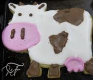 Animal-shaped Sugar Biscuits   What Francie Made Cookie Cutters, Biscuits, Cow, Sugar, Cookies, Animals, Animales, Animaux, Biscuit