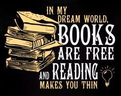 Being bookish and thin, books, literature, reading I Love Books, Books To Read, Quotes On Reading Books, Funny Reading Quotes, Big Books, World Of Books, Stack Of Books, Book Of Life, The Book