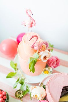 Flamingo Cake Toppers