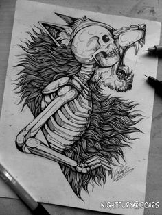 Ideas for tattoo sleeve drawings sketches wolves Creepy Drawings, Dark Art Drawings, Art Drawings Sketches, Tattoo Sketches, Tattoo Drawings, Cool Drawings, Wolf Tattoos, Flash Tattoos, Werewolf Tattoo