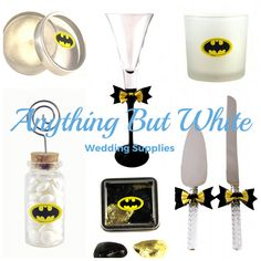 Take a look at our large range of supplies for your Batman inspired wedding.