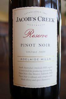 Jacob's Creek Reserve Pinot Noir 2009 - Bona Fide. $8