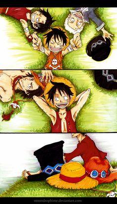 Uma peça- ASL-Ace, Sabo, Luffy E essa foto provavelmente vai mudar em breve oi oi ...!