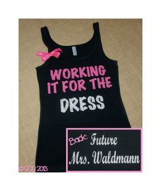 cute workout shirt for her, not that she need to lose any lbs but she goes to the gym all the time