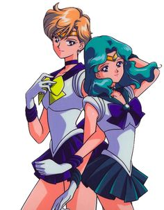 dedicated to the soldiers of the Outer Solar System - Sailor Uranus, Sailor Neptune, Sailor Pluto and Sailor Saturn -, that first appear in Sailor Moon S ♥ Sailor Moons, Sailor Moon Manga, Sailor Uranus, Sailor Moon Girls, Arte Sailor Moon, Sailor Neptune, Sailor Scouts, Haruka And Michiru, Sasameki Koto