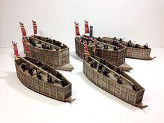 Jim's generic samurai thread The Murakami clan Grand Fleet** - Medieval Games, Lead Adventure, Japanese Buildings, Asian History, Middle Ages, Japanese Art, Diorama, Samurai, Boats