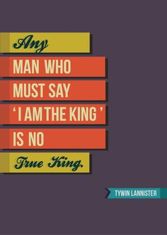 Game of Thrones Typography by Klarence Tolosa, via Behance