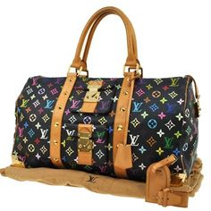 Louis Vuitton Keepall 45 Travel Hand Monogram Multi-color Black Tote Bag. Get one of the hottest styles of the season! The Louis Vuitton Keepall 45 Travel Hand Monogram Multi-color Black Tote Bag is a top 10 member favorite on Tradesy. Save on yours before they're sold out!