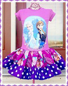 girls FROZEN Princess Anna Elsa Dress size by BlossomBlueBoutique, $54.99