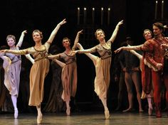 Akane Takada, Iohna Loots, Elizabeth Harrod, Emma-Jane Maguire and Samantha Raine. Royal Ballet. Photo by Dave Morgan