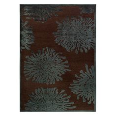 Banning Mushroom viscose / chenille en acrylique 5 Feet 2 Inch x 7 Feet 6 Inch Area Rug Teal Rug, Teal Area Rug, White Area Rug, Beige Area Rugs, Blue Carpet, Carpet Colors, Transitional Rugs, Brown Rug, Chenille