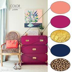 1000 ideas about Fuschia Bedroom Fuschia Bedroom, Gold Bedroom, Bedroom Decor, Coral Colour Palette, Color Magenta, Color Palettes, Bright Colors, Room Color Schemes, Fashion Room