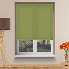Controliss Liso Avacado battery powered roller blind.