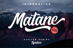 Matane – Typeface | Free (For Personal Use Only) – Pixelify | Best Free Fonts, Mockups, Templates and Vectors.