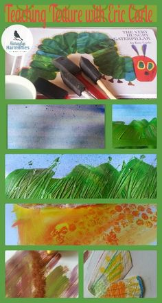 Time for an insect unit? Incorporate and art lesson in teaching textures with the beloved book's of Eric Carle