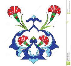 Traditional Antique Ottoman Turkish Tile Illustrat Royalty Free Stock Photo - Image: 8505035