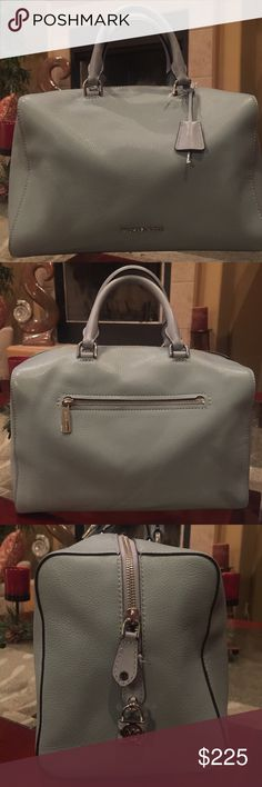 🎁GREAT GIFT🎁NWT Michael Kors Satchel Large and beautiful Kirby Satchel in dusty blue. Long strap included. Michael Kors Bags Satchels