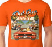 Adults OutRun Retro Gamer T-shirt Unisex, many colors.