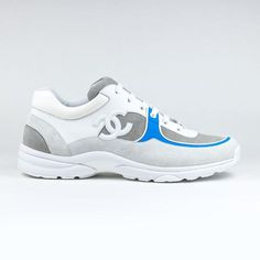 timeless design 75989 e1b32 Chanel CC Logo White Blue Sneaker
