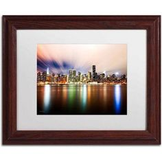 Trademark Fine Art Midtown Over the East River-IV Canvas Art by David Ayash, White Matte, Wood Frame, Size: 16 x 20