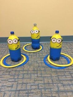 Show off your super villain skills with a game of Minions ring toss. 13 Minions Party Ideas For The Ultimate Despicable Me 3 Birthday Party Minion Theme, Minion Birthday, Boy Birthday, Birthday Games, Park Birthday, Birthday Ideas, Preschool Games, Activities For Kids, Preschool Ideas