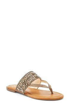 Jessica Simpson Rosina Sandal A geometric array of crystals makes sure this thong sandal sparkles in the sunshine. Shoe Boots, Shoes Sandals, Heels, Jessica Simpson Sandals, Jessica Simpson Collection, Wedding Shoes, Me Too Shoes, Fashion Accessories, My Style