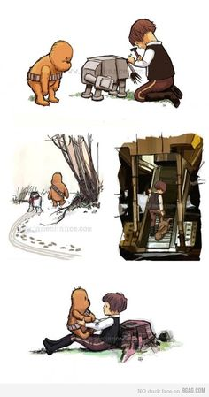 Star Wars mixed with Winnie the Pooh. Well that's insanely adorable.