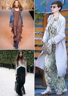 how to wear long summer dress in winter cardi