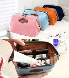 Iconic Frame Pouch Cosmetics Case Large Makeup Bag Travel Accessory Organizer | eBay