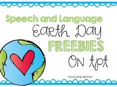 Home Sweet Speech Room : Speech and Language Earth Day Freebies