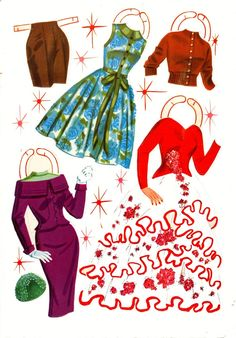 Donna Reed paper doll punch out clothes / eBay