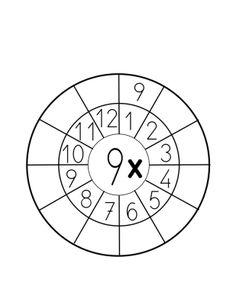 tabla de multiplicar del 9