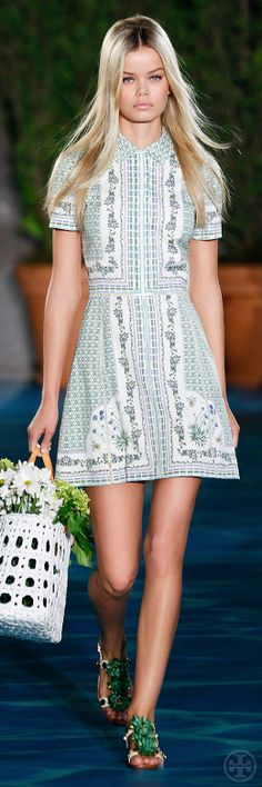 6b900f2bad8 Tory Burch Spring 2014  Look 7  toryspring14  nyfw Fashion Moda