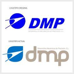 Resytiling de logotipo desarrollado para la empresa DMP de Mendaro, empresa líder el sector aeronáutico. #dmp #restyling #logotipo