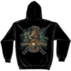 Erazorbits Usmc Sweatshirt Marine Devil Dog First In Las Bk Bulldog Mascot, Usmc, Marines, Best Gifts For Men, Marine Corps, Black Hoodie, Black Men, Tee Shirts, Sweat Shirt