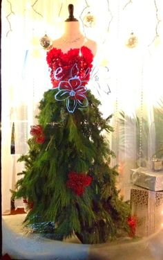 Christmas tree gown close up  #merchandising #display
