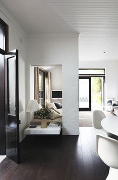 Feature walls | Open plan with a creating division  Black boards on the floors | nooshloves