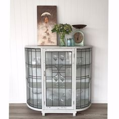 gorgeous cabinet painted in MMS Milk Paint Mora